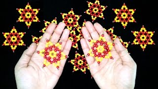 DIY Crafts : How To Make Star With Beads | Beaded Star Tutorial | Beads Art And Craft Ideas