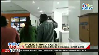 Police raid China TV Nairobi office - VIDEO