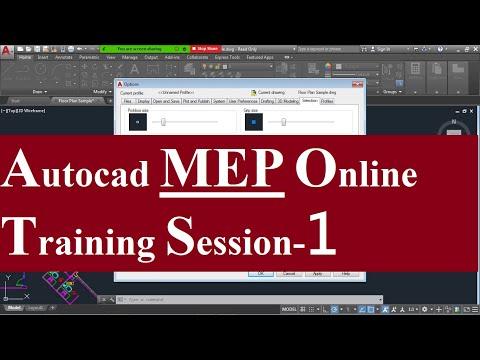 Autocad MEP Complete 1hr Training | Autocad classes Session-1 ...