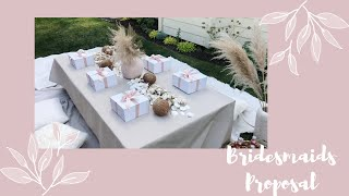 HOW I ASKED MY BRIDESMAIDS + THEIR REACTIONS | Sweet Besties, Cute Picnic &&& Bridesmaid Boxes