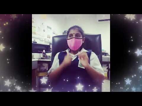 kids mask & face shield (tamil version)