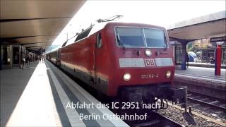 preview picture of video 'Eisenbahnverkehr in Bielefeld Hbf (NRW)'