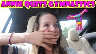 Annie Quits Gymnastics 🤸 (WK 347.6) | Bratayley