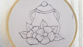 Very Easy And Beautiful Hand Embroidery Design Tutorial-Easy Hand Embroidery Stitches