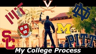 My College Process [with Reactions] (Accepted to 20+ Universities)