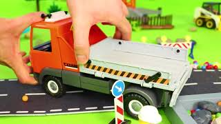 Fire Truck, Train, Bulldozer, Tractor, Excavator & Police Cars Construction Toy Vehicles for Kids