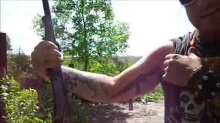 "Brutal Recoil! shooting the New England 12 Gauge 3"" slugs"