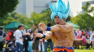 BEST COMIC CON 2018 | SSJ BLUE GOKU COSPLAY