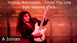 Yngwie Malmsteen - Cross The Line (guitar solo backing track)