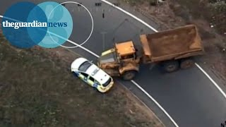 Dumper truck rams police cars in 40-mile police chase across Norfolk and Suffolk