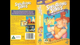 Sing Along Songs From Hercules [UK VHS] (1997)