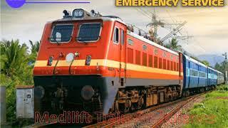 Medilift ICU Train Ambulance Service in Patna and Ranchi