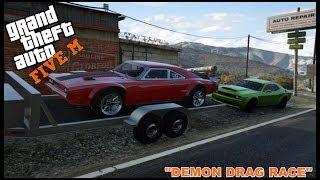 GTA 5 ROLEPLAY - 1200HP DODGE DEMON DRAG  - EP. 135 - CIV