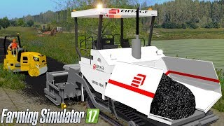 Farming Simulator 2017 - VÖGELE Super 1600 Asphalt Paver (WORKING PAVEMENT!)