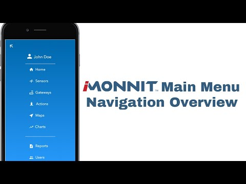 video overview of the main iMonnit navigation menu