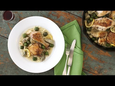 One Pot Braised Chicken with Artichokes and Lemon – Everyday Food with Sarah Carey