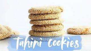 Gluten Free Tahini Cookie Recipe (paleo + dairy free)
