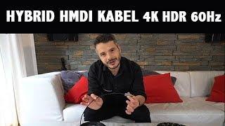 4K HDR HDMI Kabel mit 18GBit Hybrid Lichtleiter Technik für lange Strecken