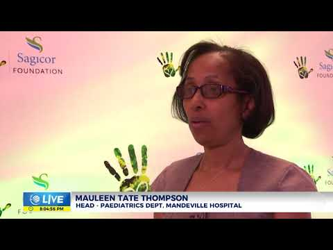 Sagicor hands over donations to Mandeville Hospital