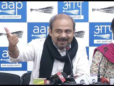 Senior AAP Leader Dilip Pandey & Atishi Exposed BJP Hooliganism at Signature Bridge
