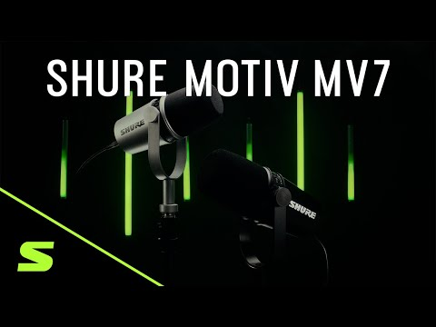 Shure MV7 Podcast Microphone, Silver