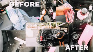 cleaning my car and VSCOing my car