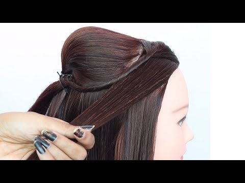 new awesome hairstyle for weddings || puff hairstyle for party | ladies hair style || open hairstyle