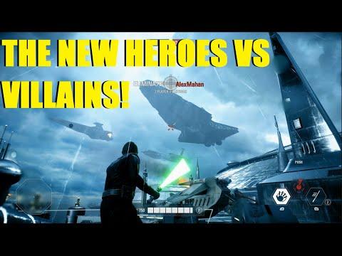 Star Wars Battlefront 2 - The NEW Heroes Vs Villains!   Post patch Luke, Phasma, & Lando! (3 games)