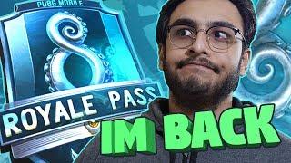 PUBG MOBILE LIVE: I AM BACK! | PMSC 2019 | SEASON 8 ROYAL PASS RANK PUSH | NEW UPDATE