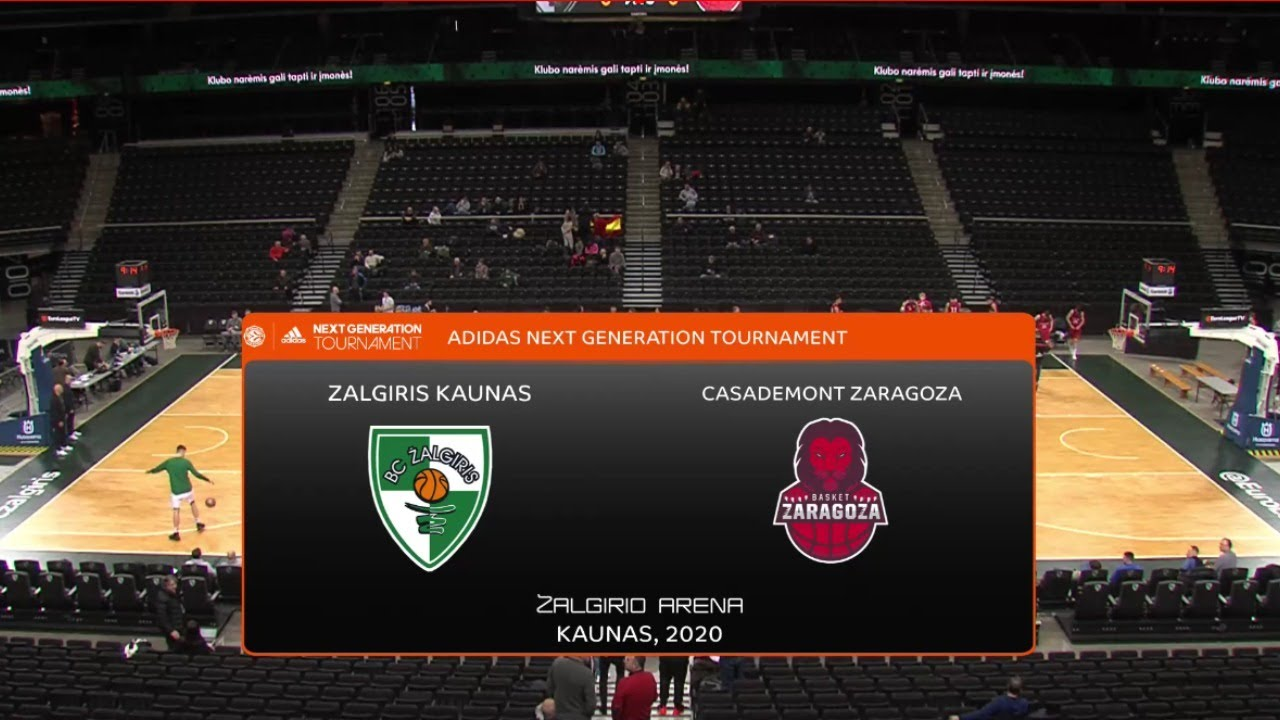 U18M - ZALGIRIS KAUNAS vs BASKET ZARAGOZA.-  Euroleague ANGTournament. Kaunas 2020 (BasketCantera.TV)