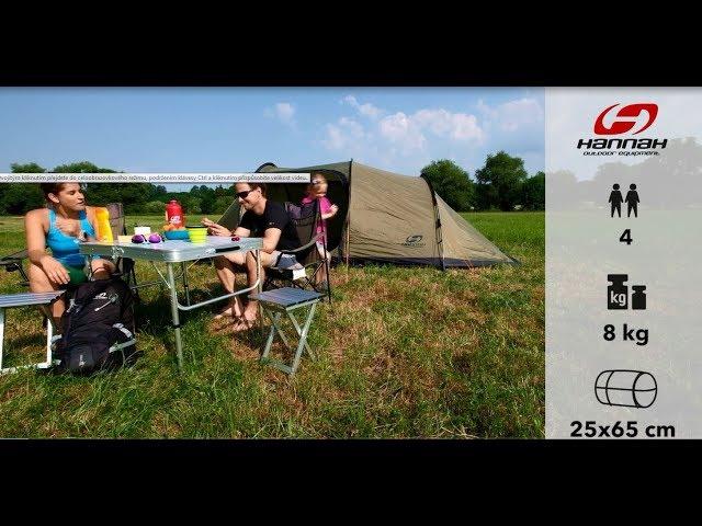 Видео Палатка четырехместная Hannah Shelter 4 зеленая