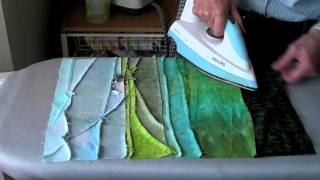 Landscape Quilts Piece By Piece - Piecing Fabrics - When To Iron!