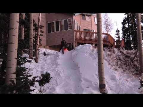 Sledding Fails! (Utah Cabin Trip)