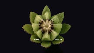Beautiful Kiwi Fruit Lotus Flower - Beginners Lesson 3 By Mutita Art In Fruit And Vegetable Carving