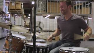 #JustDrumming Part 1. Mike Johnston stops by Aquarian Warehouse