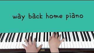 숀 way back home piano