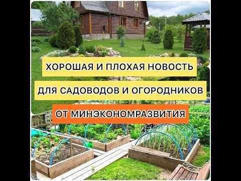 Письмо от Минэкономразвития для садоводов и огородников