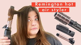 This Remington Hot Air Styler Gives You A Bouncy Blow Dry | Tutorial & Review