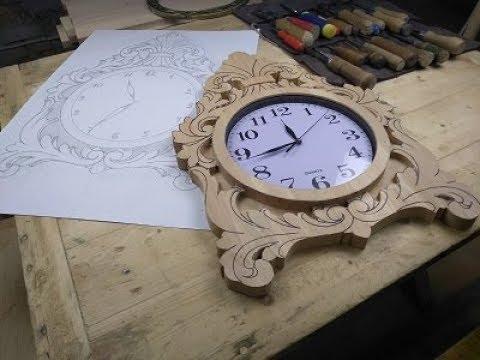 , title : 'Как сделать резные часы часть 1 начало работы, резьба по дереву'