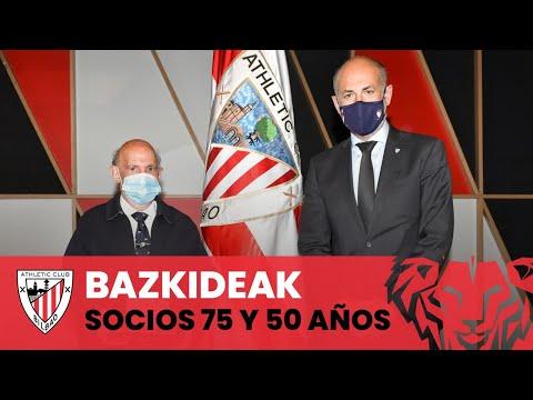 Athletic Club, beti zurekin I Reconocimiento a los socios con 50 y 75 años