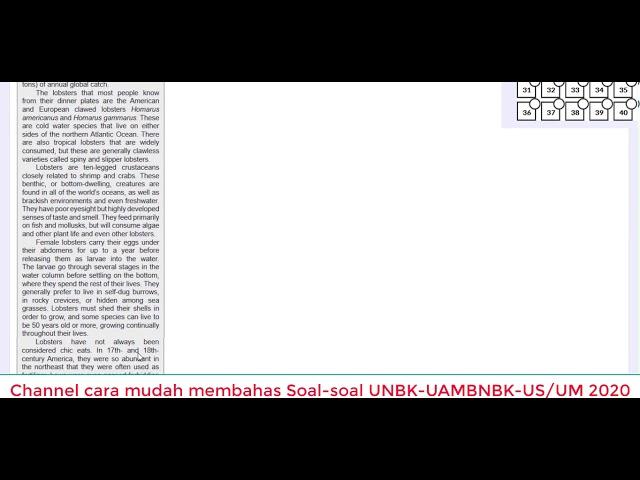 Pembahasan Type soal Gladi Bersih dan Utama UNBK Bahasa Inggris SMA-MA 2020