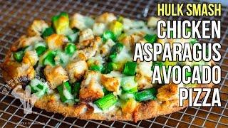 Hulk Smash Chicken, Asparagus, Avocado Pizza / Pizza de  Pollo, Espárragos y Aguacate