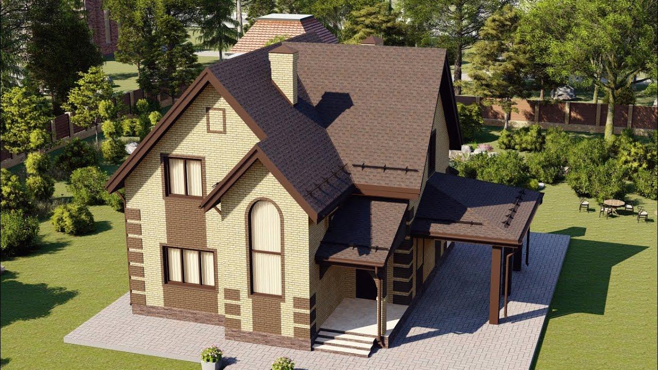 Проект дома 170-D, Площадь дома: 170 м2, Размер дома:  13,4x9,9 м