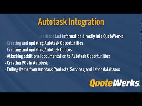 See how QuoteWerks integrates with Autotask