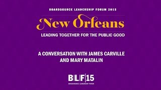 Opening Plenary: A Conversation with James Carville and Mary Matalin