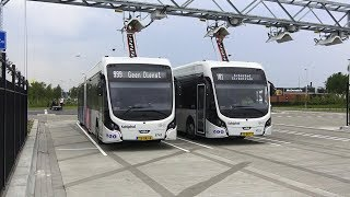 Electric Bus at Schiphol Airport, Netherlands