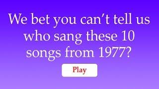Quiz : Songs around 1977