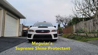 Using Meguiar's Supreme Shine Protectant is the fastest and easiest way  to create a hi-shine.