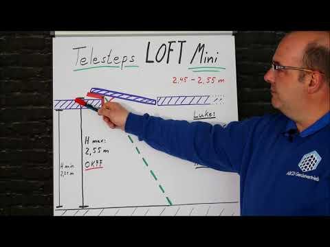 "TELESTEPS ""Loft Mini"" Dachbodenleiter - Einbauhöhen"