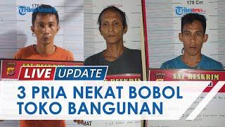 Bongkar Atap Toko Bangunan Dini Hari, 3 Pria di Pidie Diringukus Polisi seusai Gasak Sejumlah Benda
